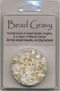 Bead Gravy Bechamel White, Glasperlen weisse Mischung