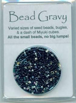 Bead Gravy Black Portobello, Glasperlen schwarze Mischung