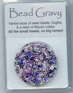 Bead Gravy Blackberry Violet, Glasperlen violette Mischung