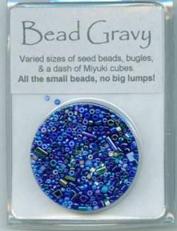 Bead Gravy Dark Blueberry, Glasperlen dunkelblaue Mischung