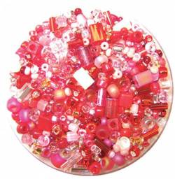 Bead Gravy Passion Punch, Glasperlen pink-rote Mischung