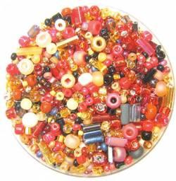Bead Gravy Red Currant Royale, Glasperlen bernstein-rot-schwarze Mischung