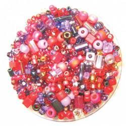 Bead Gravy Sparkling Cranberry, Glasperlen rot-violette Mischung