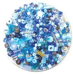 Bead Gravy True Blue Spritzer, Glasperlen dunkelblau-leuchtendhellblaue Mischung
