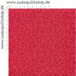 Santee Rich Tones Collections Blümchen u. Schnörkel rot auf rot