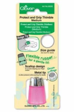 Fingerhut Grip And Protect Gr. M, unten weicher Kunststoff, oben Metall