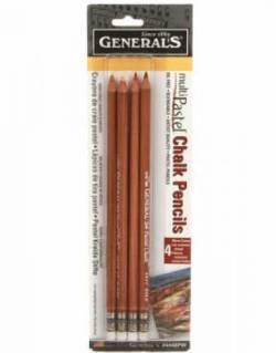 Generals Fabric Pencil Kreidestifte Sortiment Pastellfarben