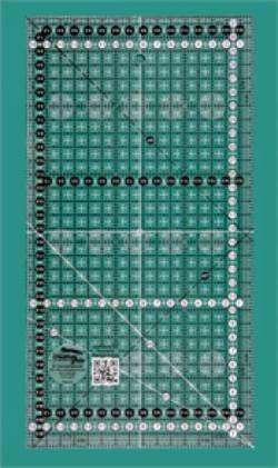Creative Grids Antirutsch-Lineal METRISCH 16,5 x 31,5 CM