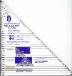 Diagonal Set Triangle Ruler 6-16 inch
