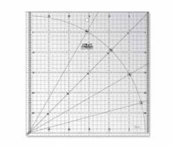 Olfa Frosted Ruler 30 x 30 CM, Antirutsch-Lineal mit schwarzen Linien auf milchigem Kunststoff