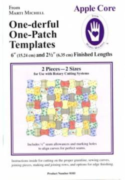 One On One Template | One Derful One Patch Apple Core Template