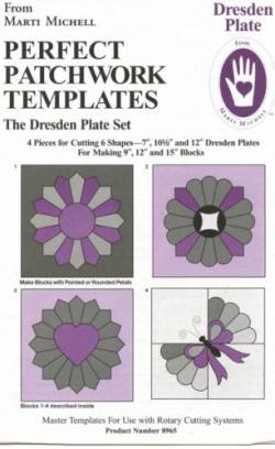 Perfect Patchwork Templates Large Dresden Plate Set 7 & 10 und 5 & 12 inch