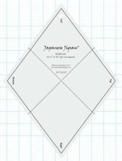 Japanese Jigsaw Template, Japanisches Puzzle - Pre-Cut Friendly