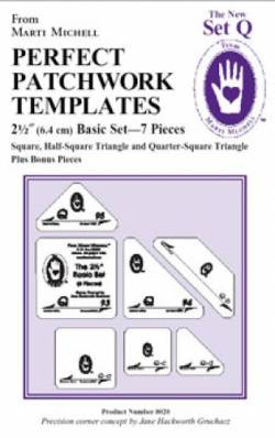 Perfect Patchwork Templates New Set Q is for Quilting 2.5 inch Basic Template Set