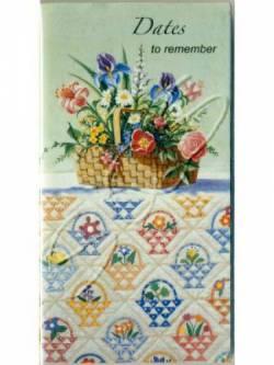 Taschenkalender 2020-2021 Flower Basket Quilt