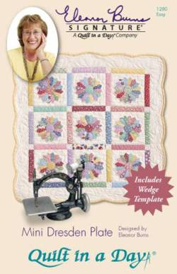 Anleitung Mini Dresden Plate Quilt In a Day, mit Acrylschablone
