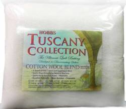 Hobbs Tuscany Collection Cotton/Wool Blend 80% Baumwolle 20% Wolle, Twin Size 72 x 96 inch