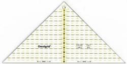 Omnigrid Lineal Flottes Dreieck 12 inch, für 4 Dreiecke aus einem Quadrat, Quarter Square Triangles R98L