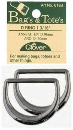 D-Ringe für Taschen. (2 stk. pro Packung) 30 mm nickel black
