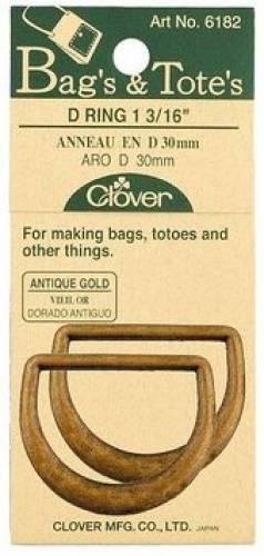 D-Ringe für Taschen. (2 stk. pro Packung) 30 mm antik gold