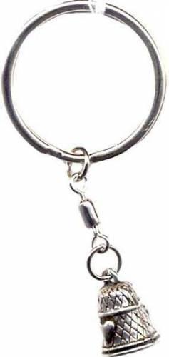 Schlüsselring mit Anhänger Fingerhut