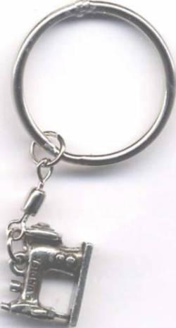 Schlüsselring mit Anhänger Nähmaschine