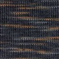 Regia Sockenwolle Color Basalt anthrazit-caramel 50 g Knäuel