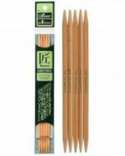Bambus-Stricknadeln 16 cm lang, Stärke 2.5, Nadelspiel TAKUMI (5 Stück), für Socken
