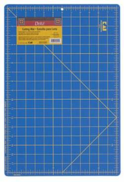 Dritz Schneidematte blau mit gelben Markierungen 12x18 INCH