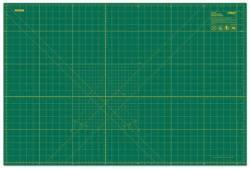 Olfa Schneidematte grün mit gelbem Raster 60 x 90 cm bzw. 24x36 inch