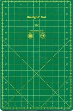 Omnigrid Schneidematte grün 6x9 inch Rückseite uni grau