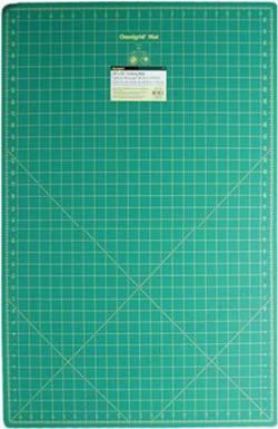 Omnigrid Schneidematte grün, mit Raster 24x36 inch, Rückseite uni grau