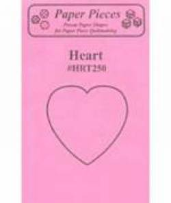 Papierschablonen Herz 2-1/2 inch, ca. 25 stk