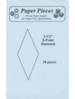 Papierschablonen Rauten 45°, 2-1/2 inch, ca. 50 stk./Packung