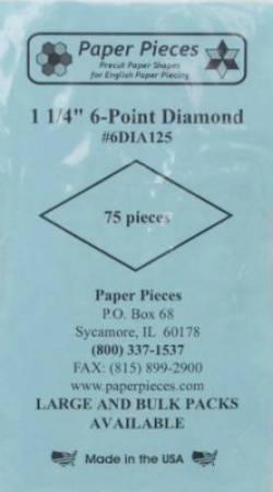 Papierschablonen Rauten 60°,   1-1/4 inch, ca.  75 stk./Packung