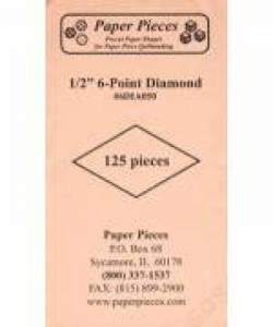Papierschablonen Rauten 60°,    1/2 inch, ca. 125 stk./Packung