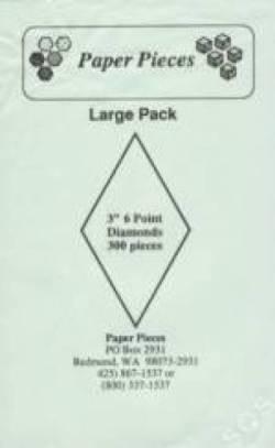 Papierschablonen Rauten 60°,  3 inch; ca. 300 stk. Großpackung