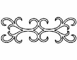 Schablone  4 inch Jacobean Filigree