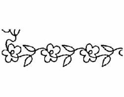 Schablone  3 inch Continuous Floral Border, Blumenbordüre