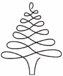 Schablone  4 inch Christmas Tree