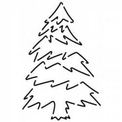 Schablone  5 inch Blue Spruce Tannenbaum