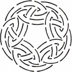 Schablone  7.5 inch Celtic Circle