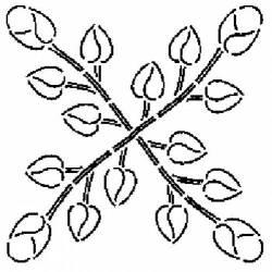 REDUZIERT: Schablone 11 inch Quilt Stencil Rosebud Block