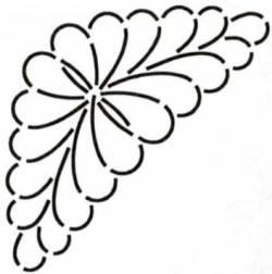 Schablone  7.25 inch Feather Corner Feder-Ecke