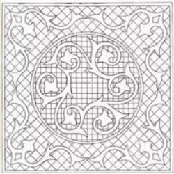 Mini Wholecloth King Arthurs Crown 16.5 inch *natur*
