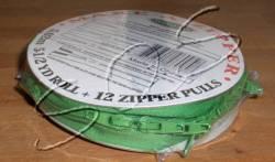 Make-A-Zipper Endlosreißverschluß ca. 5 m, mit 12 Zippern, mittelgrün