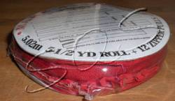 Make-A-Zipper Endlosreißverschluß ca. 5 m, mit 12 Zippern, rot