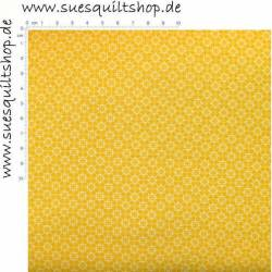 Stof Quilters Basic Memories Tile White Yellow