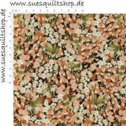 Timeless Treasures Imperial Garden Cherry Blossoms pfirsich schwarz  >>>  Mindestbestellmenge Reststück 0,21 m  <<<