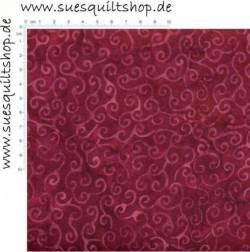 Timeless Treasures Tonga Batik Violet Scrolls Schnörkel rotviolett